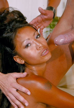 Exotic asian loves cock