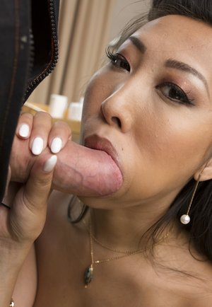 Asian Babe Sharon Lee Takes a Cumshot to her Big..