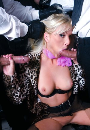 Blondie Kathy Anderson Enjoys a DP Session