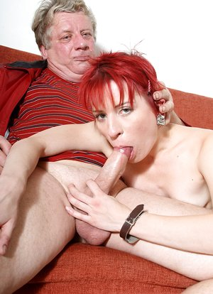 Pounded redhead