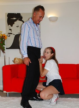 Hornly schoolgirl